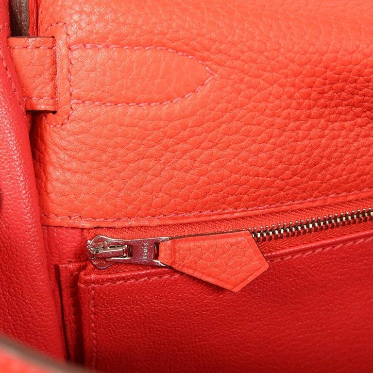 Hermès Rose Jaipur Togo 35 cm Kelly Bag For Sale 8