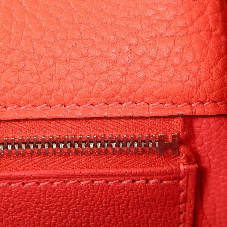 Hermès Rose Jaipur Togo 35 cm Kelly Bag For Sale 9