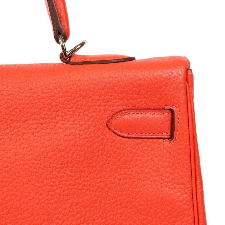 Hermès Rose Jaipur Togo 35 cm Kelly Bag For Sale 10