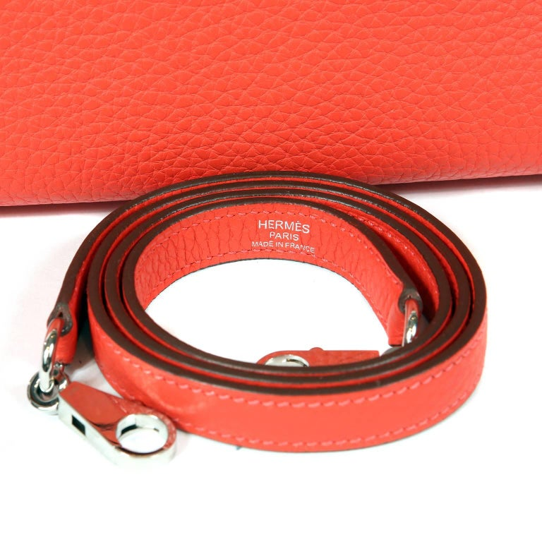 Hermès Rose Jaipur Togo 35 cm Kelly Bag For Sale 12