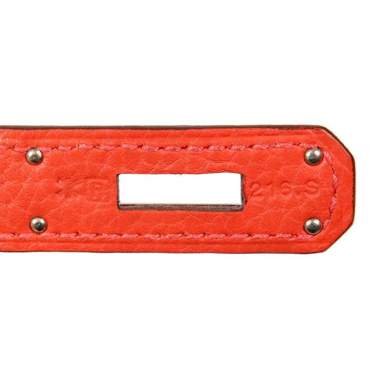 Hermès Rose Jaipur Togo 35 cm Kelly Bag For Sale 14