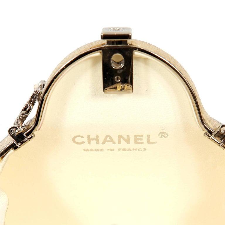 Chanel Beige Stingray Cross Body Evening Bag For Sale 9