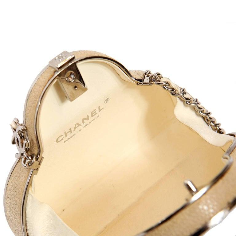 Chanel Beige Stingray Cross Body Evening Bag For Sale 11