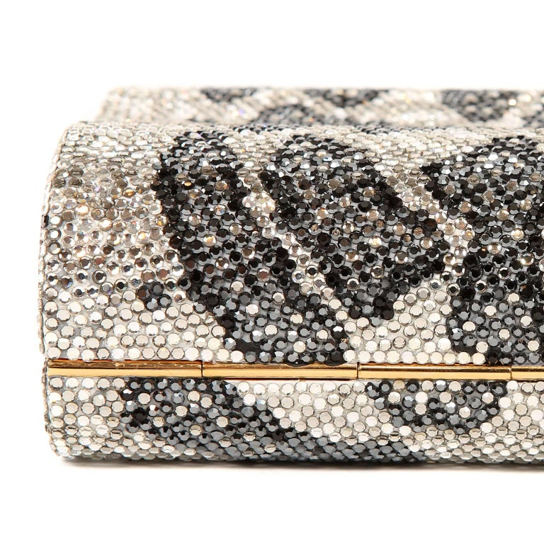 Judith Leiber Leopard Crystal Minaudiere Evening Bag For Sale 2