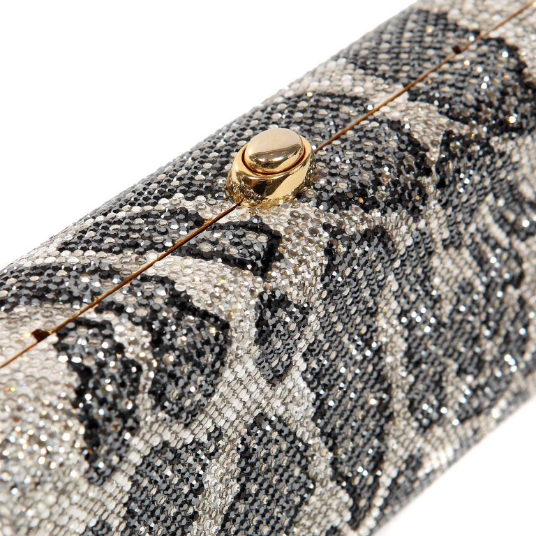 Judith Leiber Leopard Crystal Minaudiere Evening Bag For Sale 4