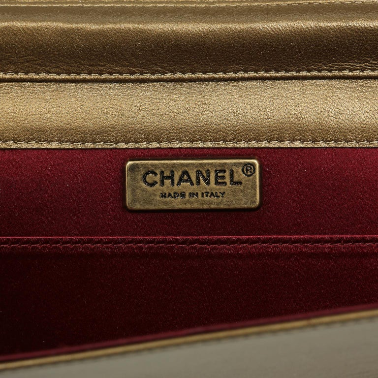 Chanel Paris Byzance Bronze Leather Jeweled Evening Bag For Sale 10