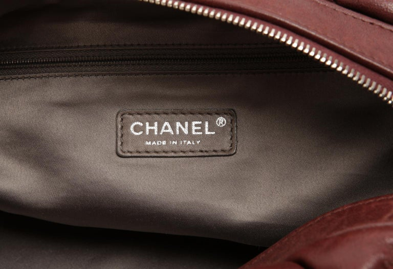 Chanel Dark Red Leather Bubble Quilt Bag For Sale 5