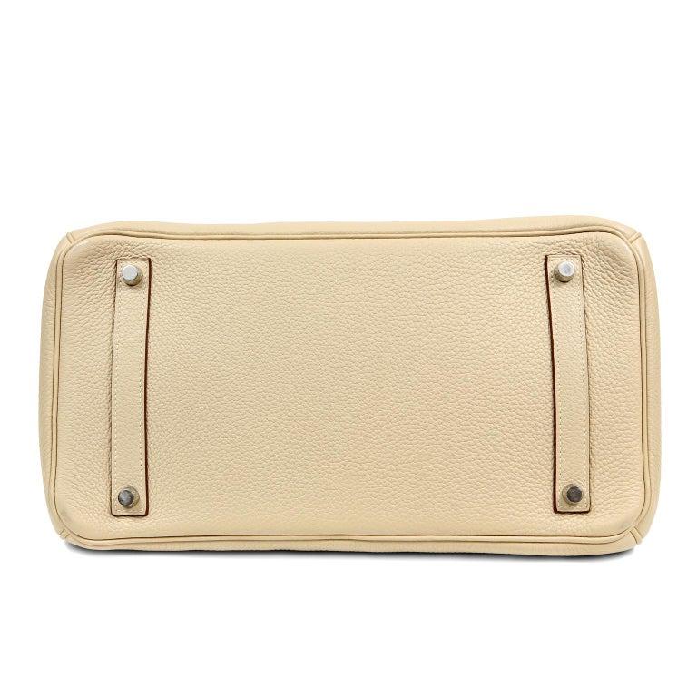 Hermes Parchemin Togo 35 cm Birkin Bag In Excellent Condition For Sale In Palm Beach, FL