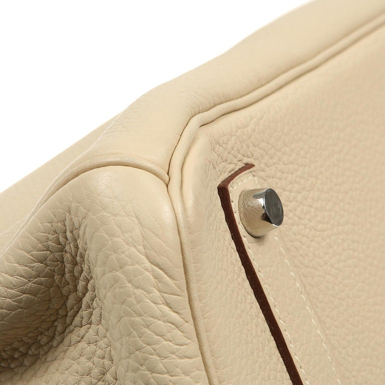 Women's Hermes Parchemin Togo 35 cm Birkin Bag For Sale