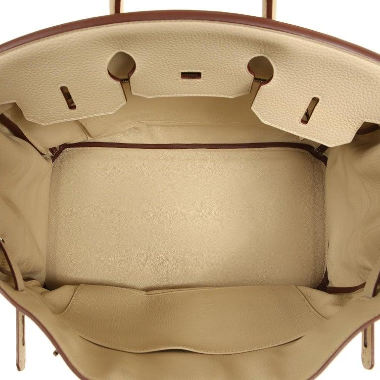 Hermes Parchemin Togo 35 cm Birkin Bag For Sale 8