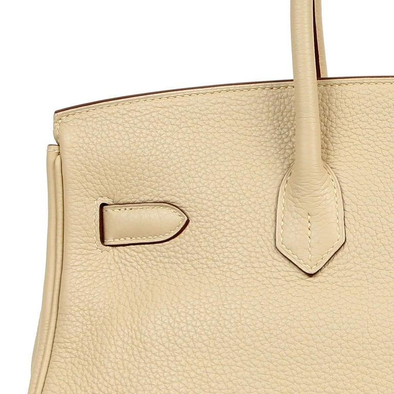 Hermes Parchemin Togo 35 cm Birkin Bag For Sale 12
