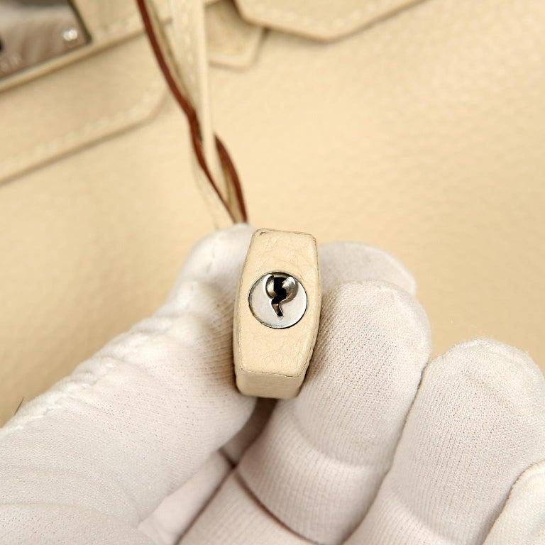 Hermes Parchemin Togo 35 cm Birkin Bag For Sale 14