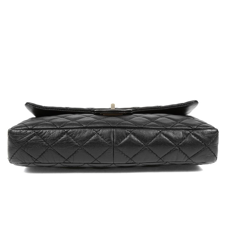 Women's Chanel Black Quilted Leather Mademoiselle Flap Bag For Sale