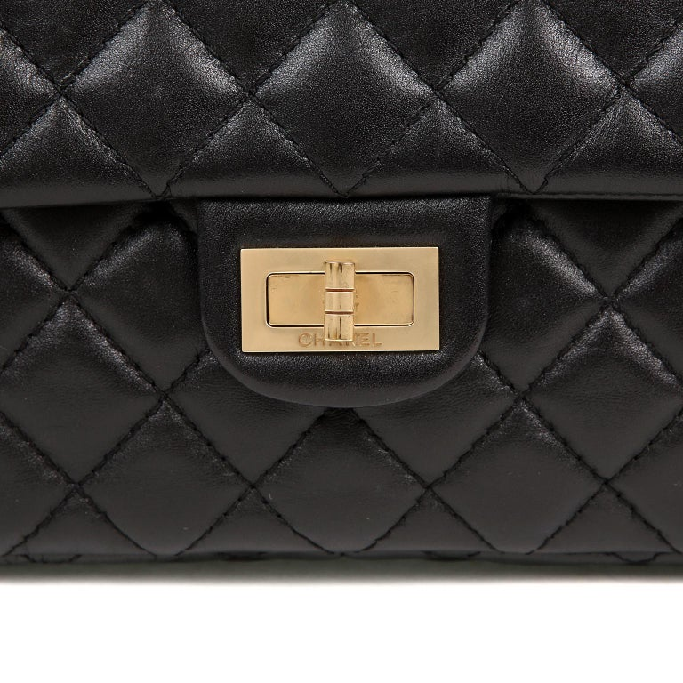 Chanel Black Quilted Leather Mademoiselle Flap Bag For Sale 1