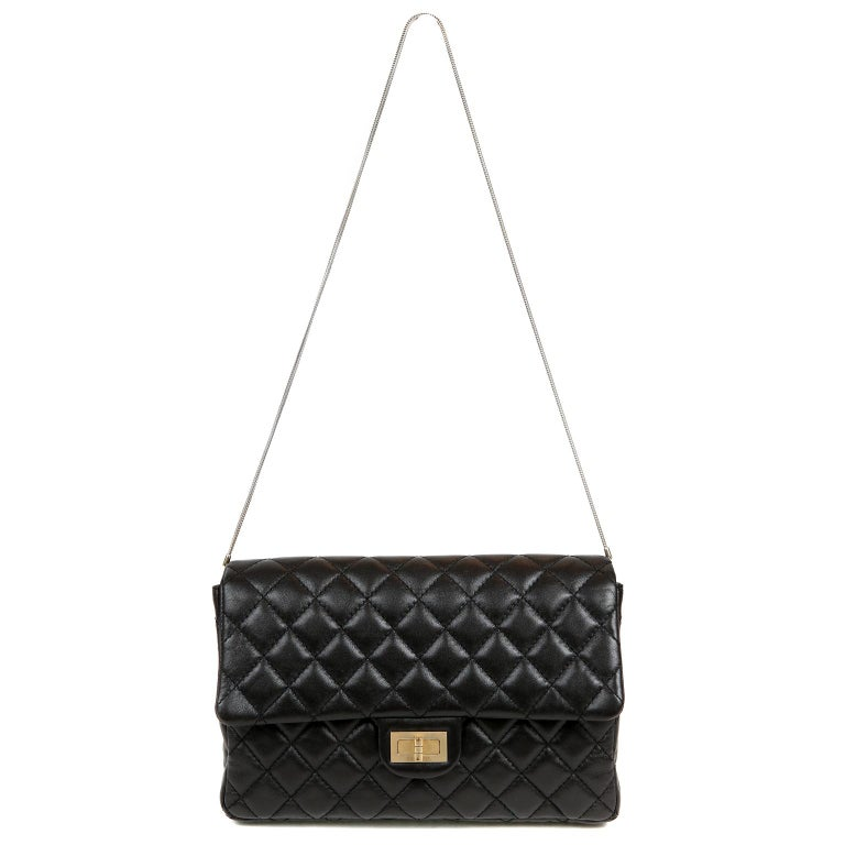 Chanel Black Quilted Leather Mademoiselle Flap Bag For Sale 3