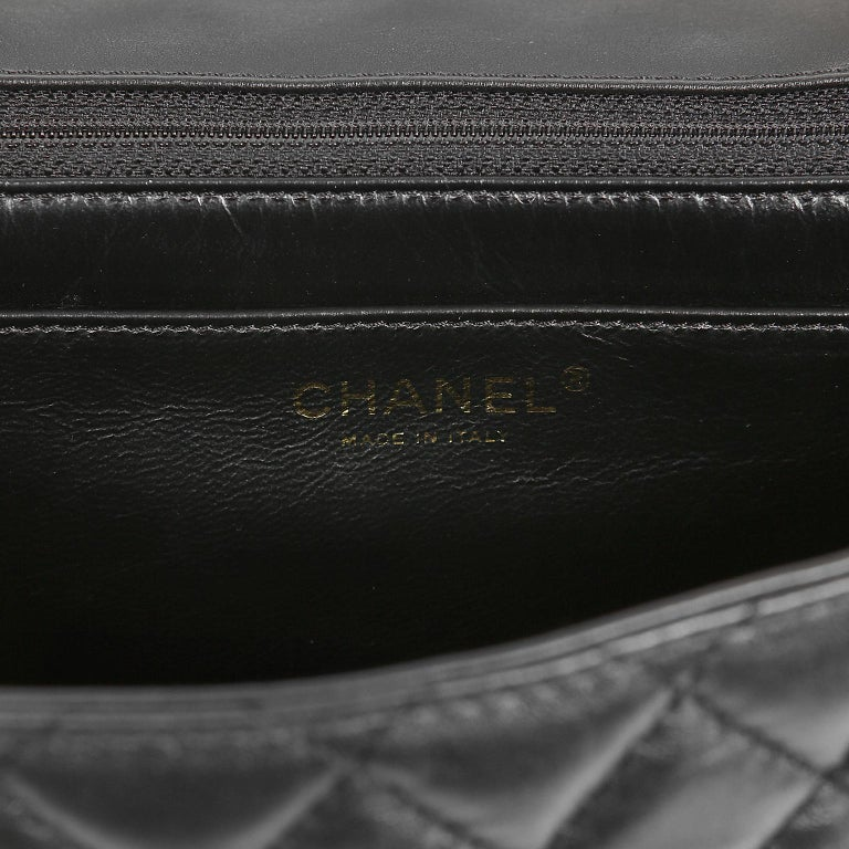 Chanel Black Quilted Leather Mademoiselle Flap Bag For Sale 5