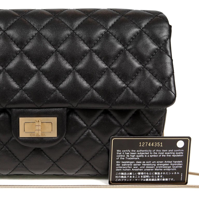 Chanel Black Quilted Leather Mademoiselle Flap Bag For Sale 7