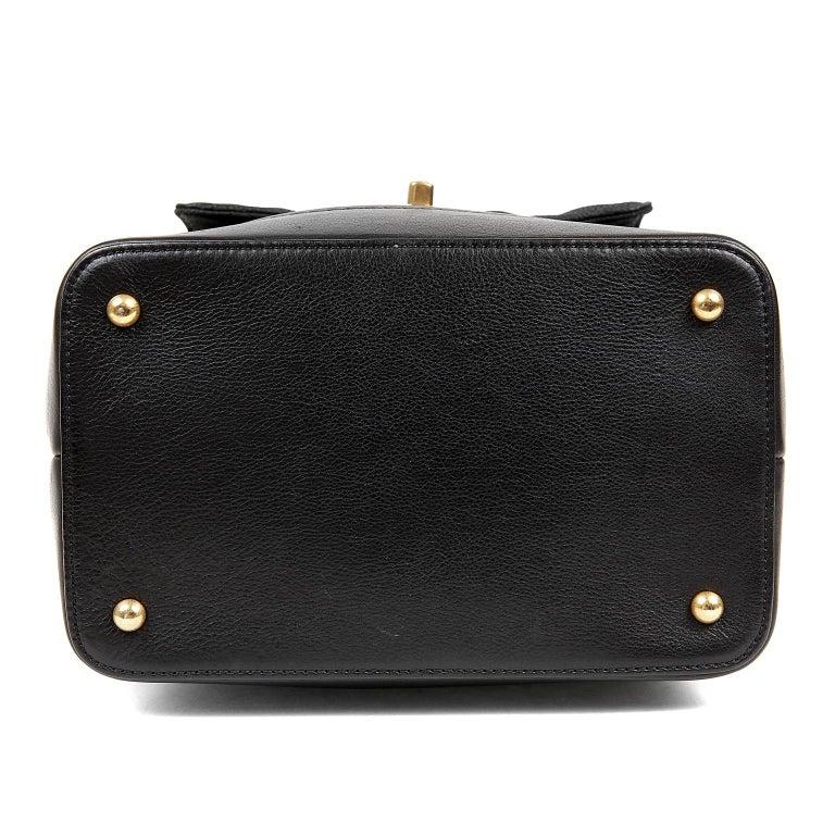 Women's Chanel Black Leather Globetrotter Bag For Sale