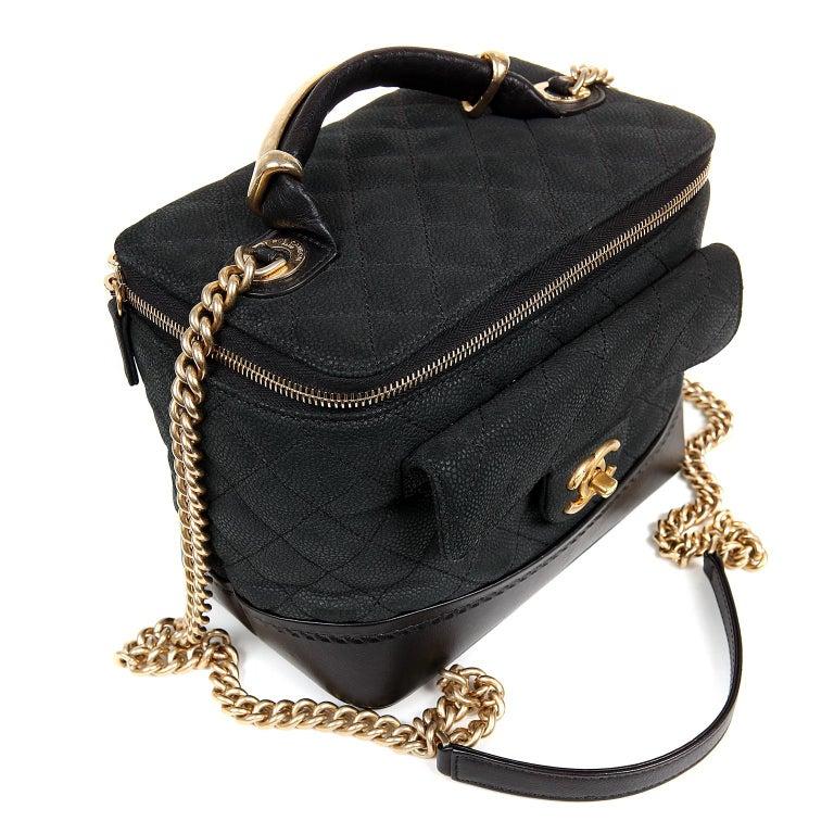 Chanel Black Leather Globetrotter Bag For Sale 1