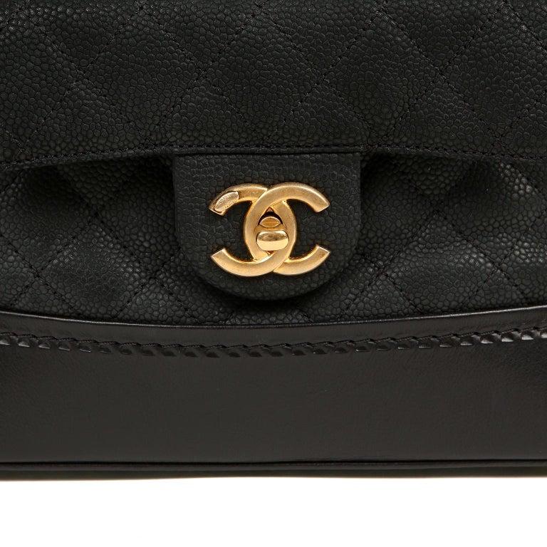 Chanel Black Leather Globetrotter Bag For Sale 2
