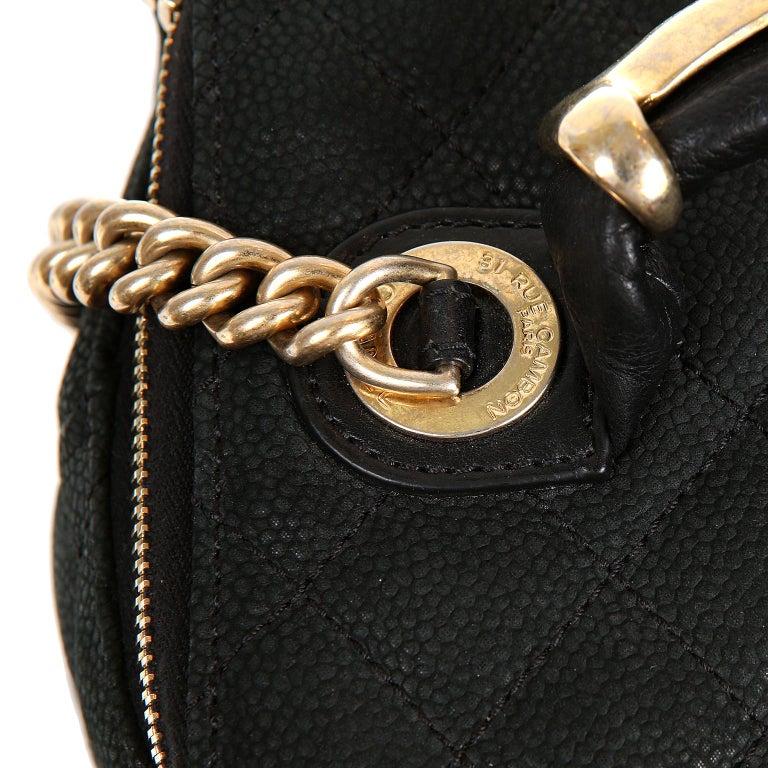 Chanel Black Leather Globetrotter Bag For Sale 4