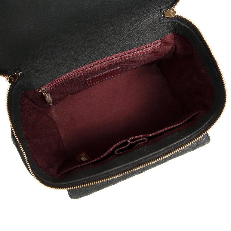 Chanel Black Leather Globetrotter Bag For Sale 5