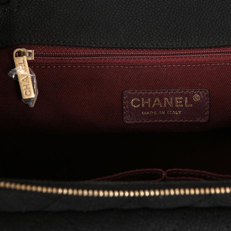 Chanel Black Leather Globetrotter Bag For Sale 6