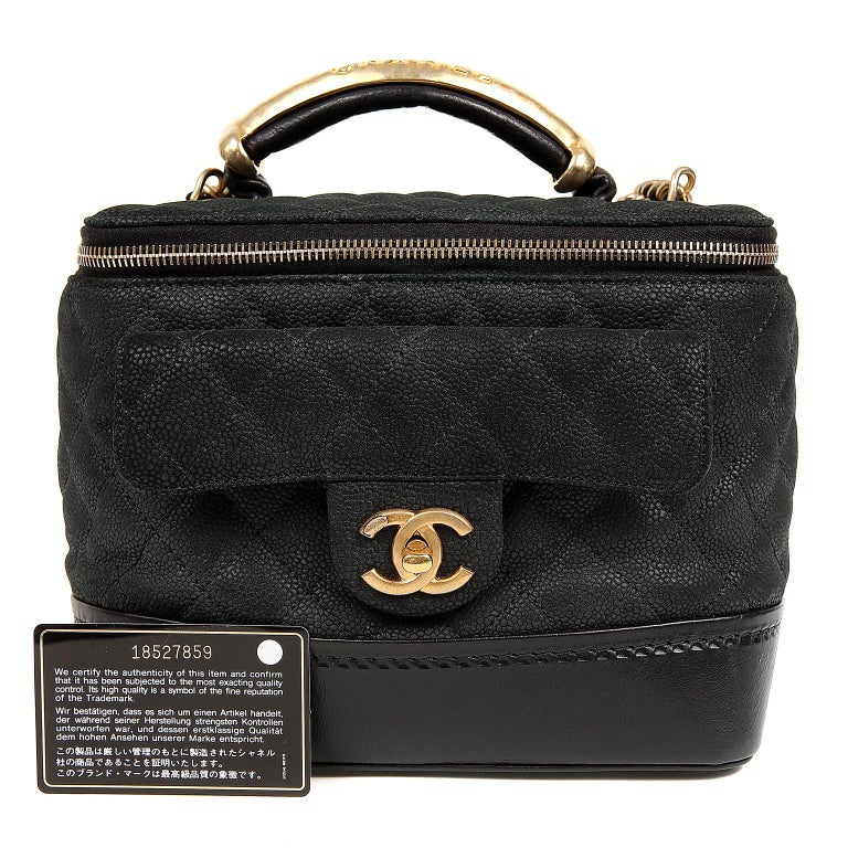 Chanel Black Leather Globetrotter Bag For Sale 11