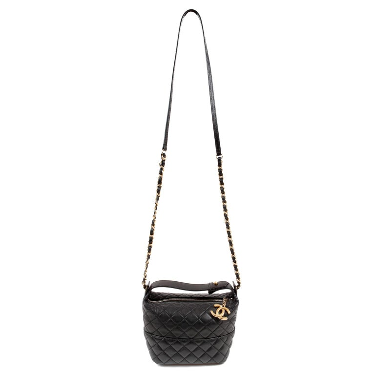 Chanel Black Quilted Leather Crossbody Bag For Sale 4