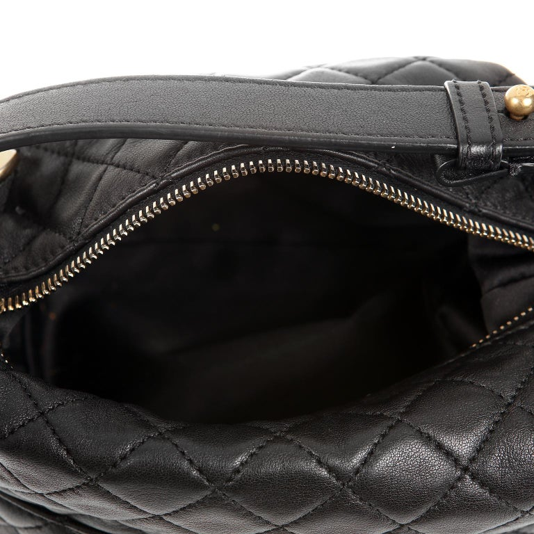Chanel Black Quilted Leather Crossbody Bag For Sale 5