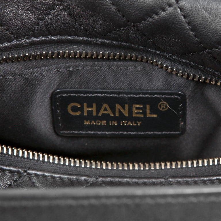 Chanel Black Quilted Leather Crossbody Bag For Sale 7
