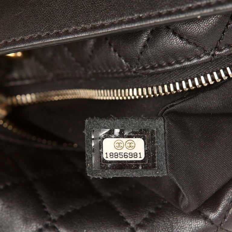 Chanel Black Quilted Leather Crossbody Bag For Sale 8