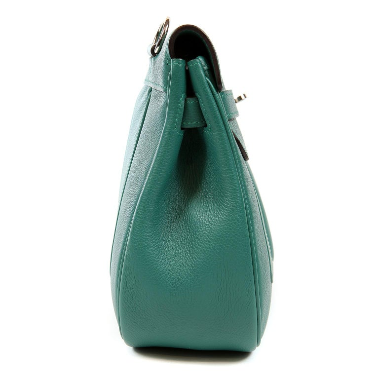Hermes Malachite Swift Berline Bag 28 cm In New Condition For Sale In Palm Beach, FL
