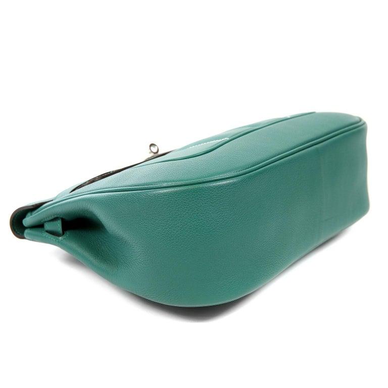Hermes Malachite Swift Berline Bag 28 cm For Sale 1
