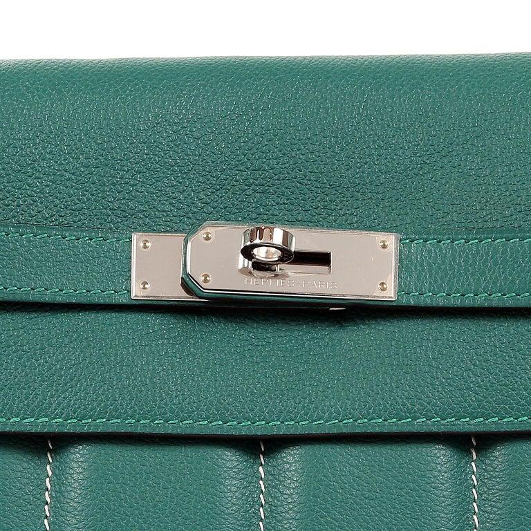 Hermes Malachite Swift Berline Bag 28 cm For Sale 2