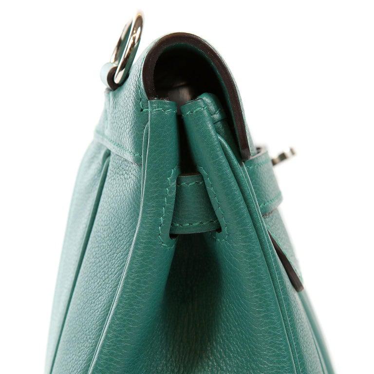Hermes Malachite Swift Berline Bag 28 cm For Sale 3