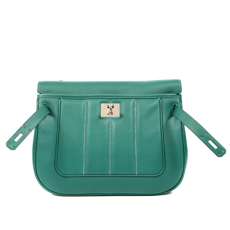 Hermes Malachite Swift Berline Bag 28 cm For Sale 5