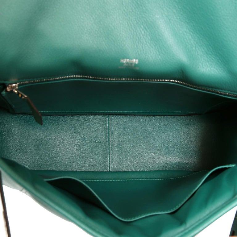 Hermes Malachite Swift Berline Bag 28 cm For Sale 6