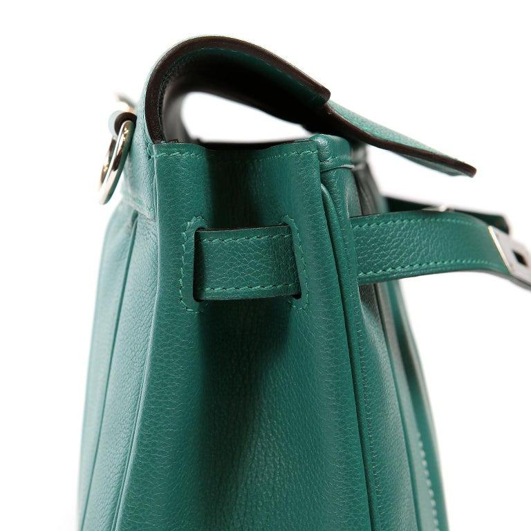Hermes Malachite Swift Berline Bag 28 cm For Sale 4