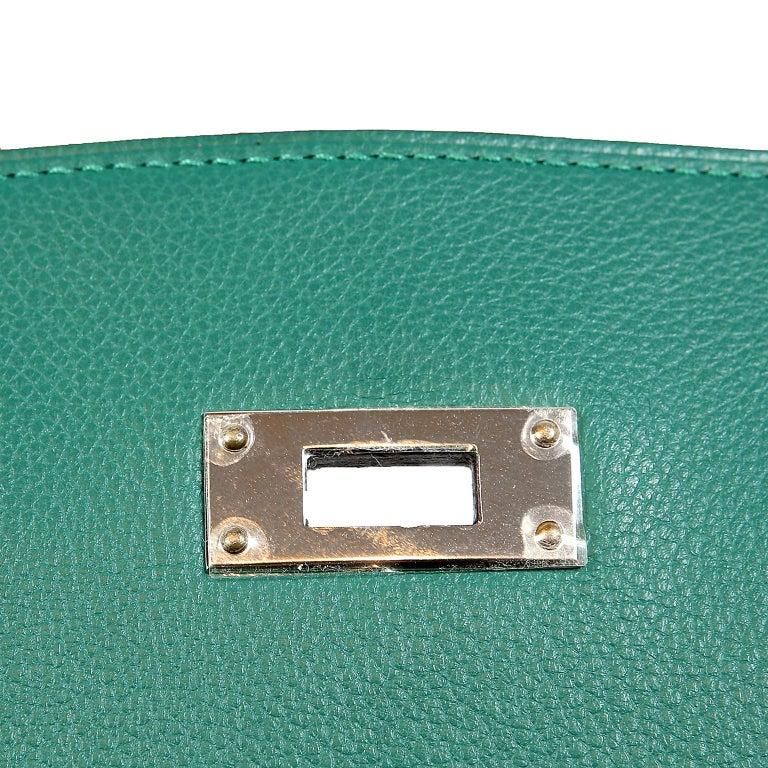 Hermes Malachite Swift Berline Bag 28 cm For Sale 9