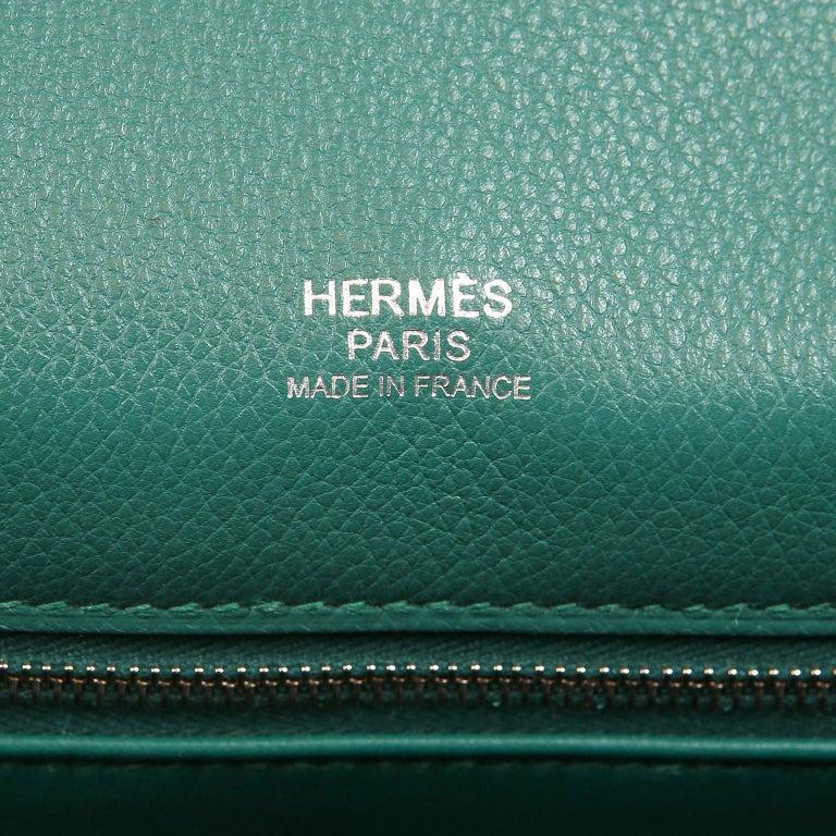Hermes Malachite Swift Berline Bag 28 cm For Sale 10