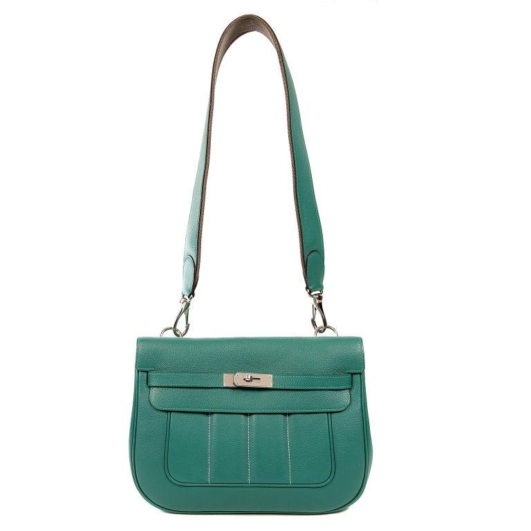 Hermes Malachite Swift Berline Bag 28 cm For Sale 11