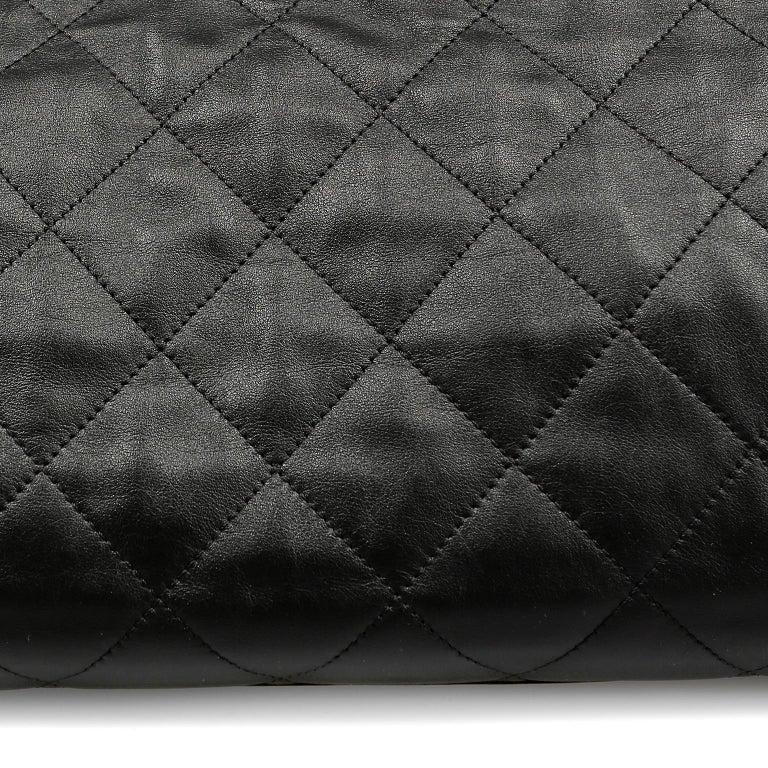Chanel Black Leather Overnight Travel Bag- Unisex For Sale 7