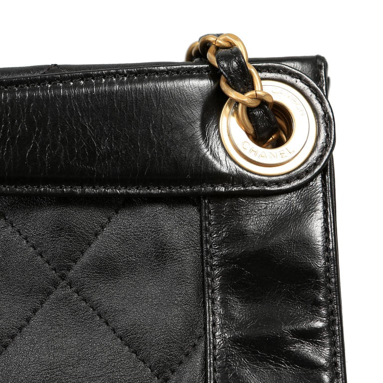 Chanel Black Leather Overnight Travel Bag- Unisex For Sale 8