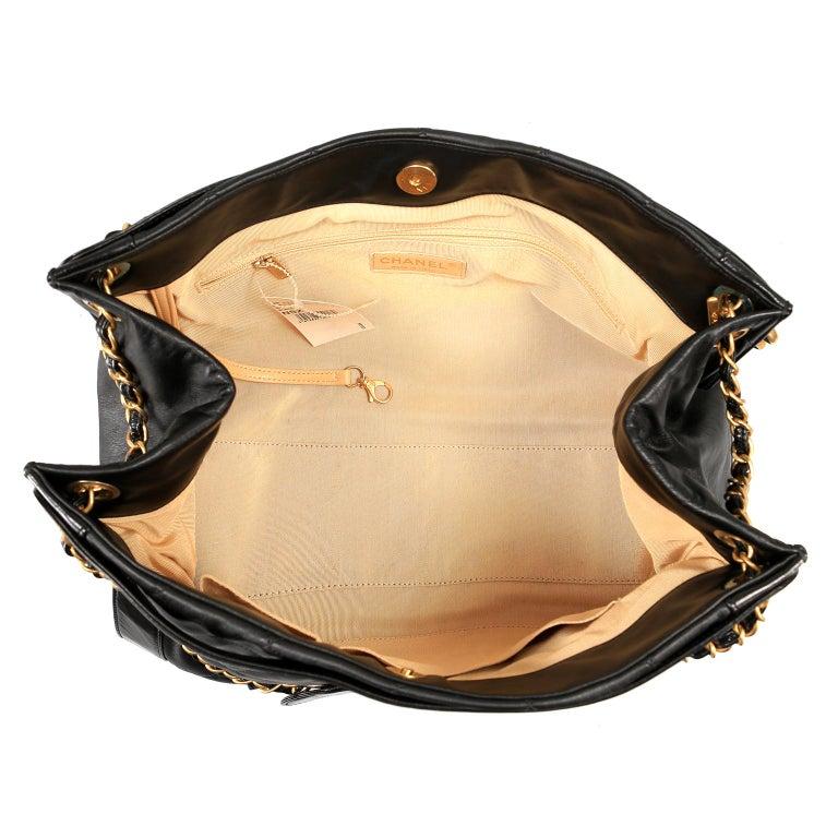 Chanel Black Leather Overnight Travel Bag- Unisex For Sale 9