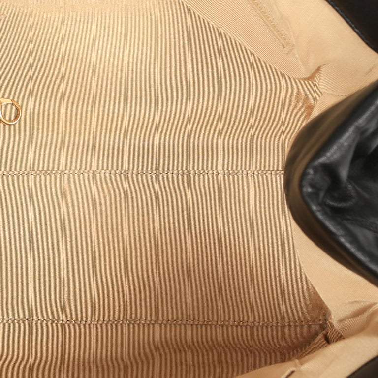 Chanel Black Leather Overnight Travel Bag- Unisex For Sale 10