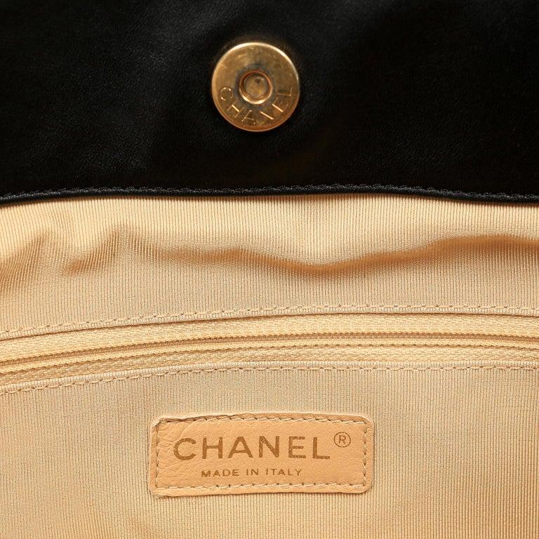 Chanel Black Leather Overnight Travel Bag- Unisex For Sale 11