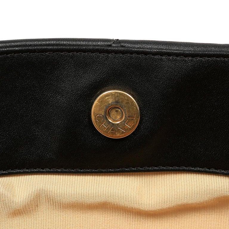 Chanel Black Leather Overnight Travel Bag- Unisex For Sale 13