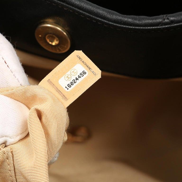 Chanel Black Leather Overnight Travel Bag- Unisex For Sale 14