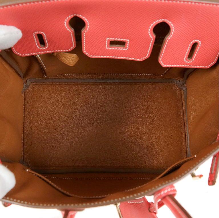 1778df12c27a Hermès Rose Jaipur and Gold Bi Color Epsom 25 cm Birkin Bag For Sale ...